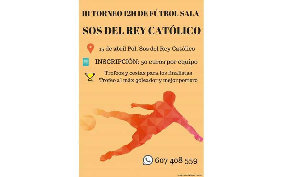 III Edición del Torneo 12 horas de fútbol sala