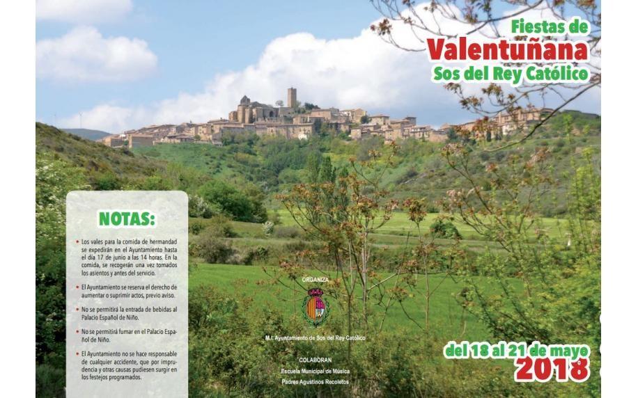 Programa Fiestas de Valentuñana 2018